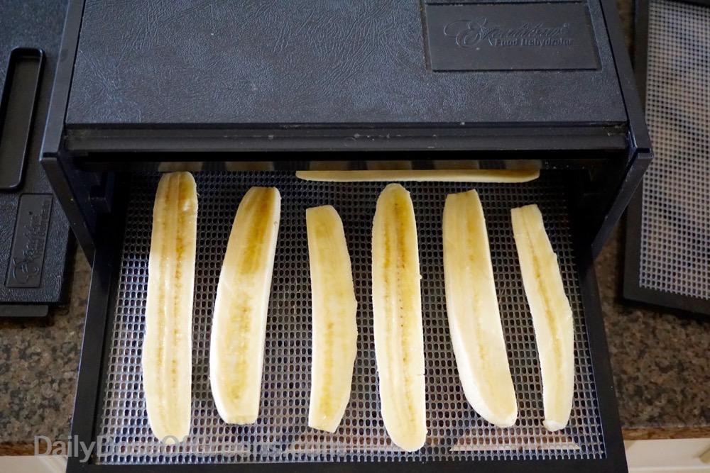 bananas in dehydrator