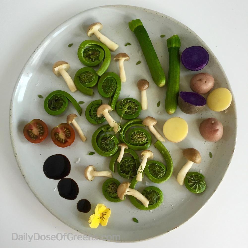 fiddlehead plate