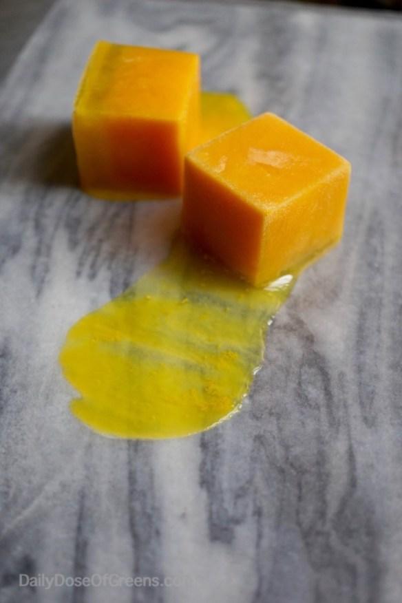 turmeric, ginger, lemon shots