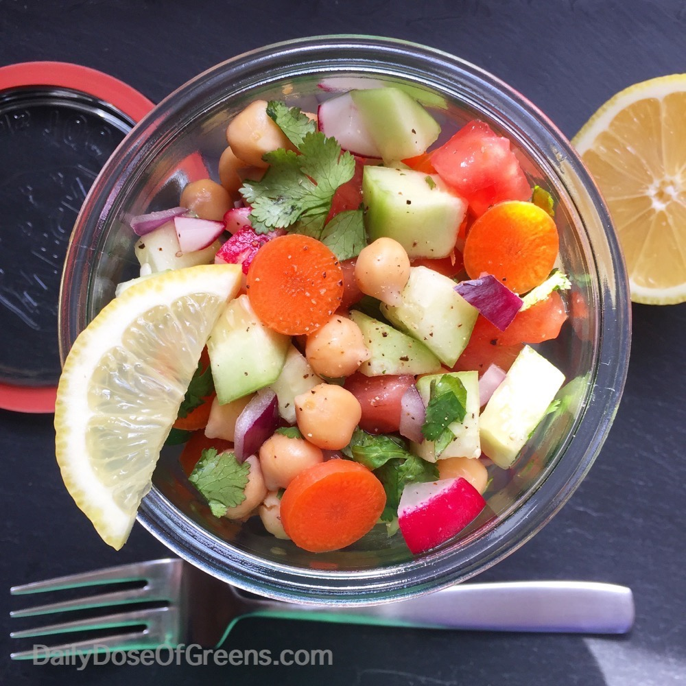 Simple Chopped Salad with Lemon