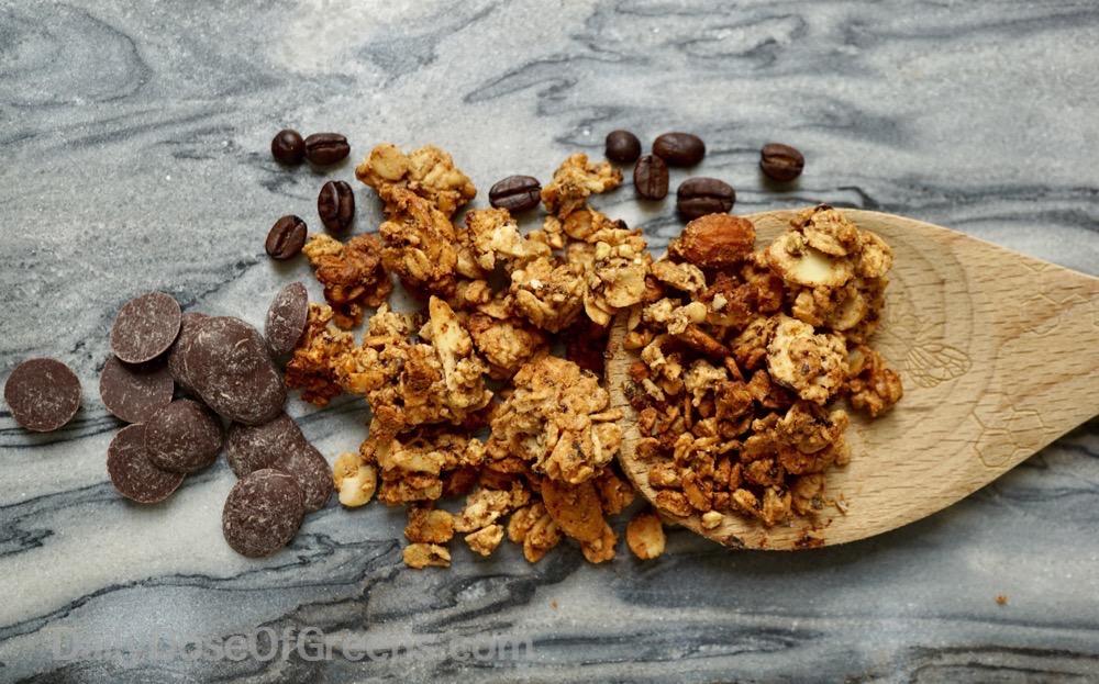 coffee almond granola