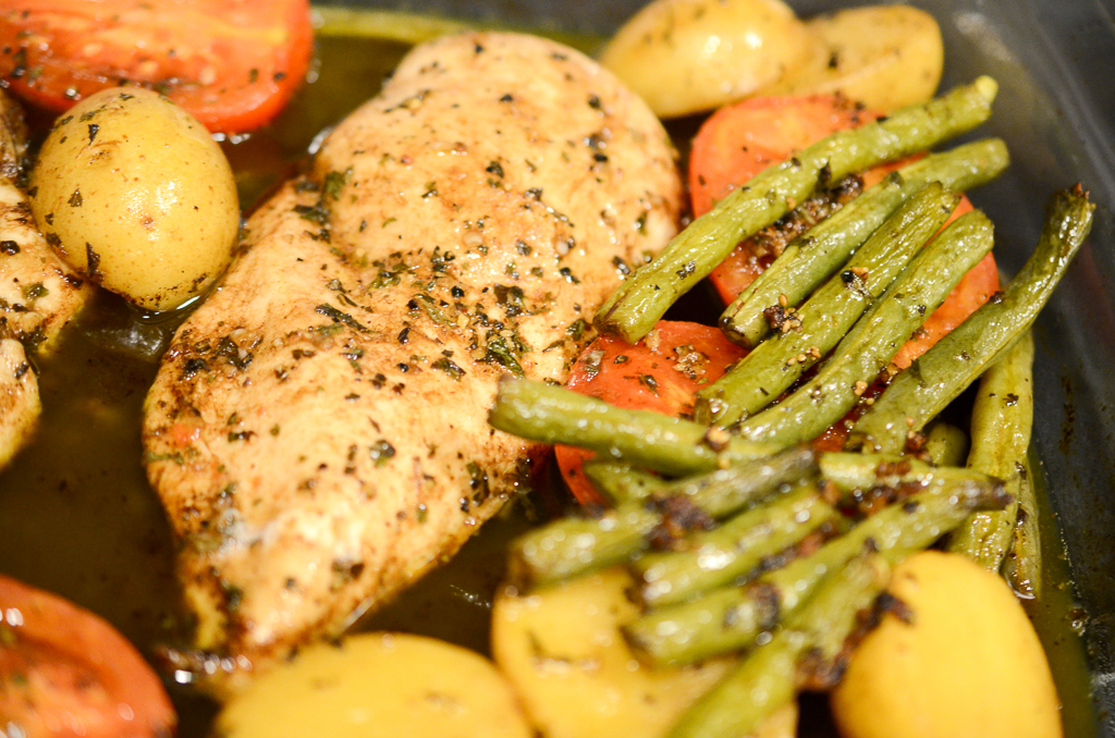 Weeknight Balsamic Chicken and Veggies