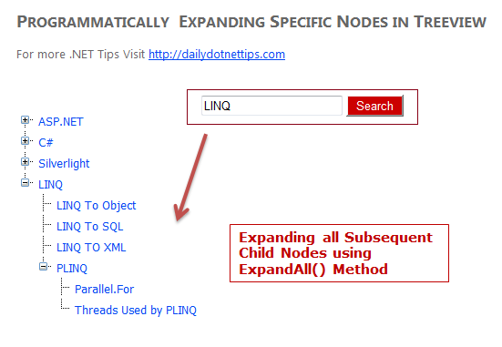 How to expand specific Tree View Node programmatically in ASP NET