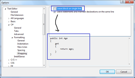 How to Wrapping Code Block and Statements in Visual Studio