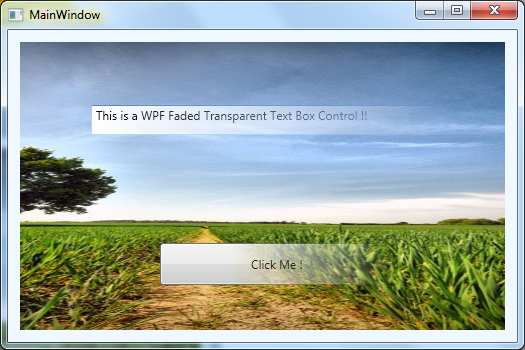 How to apply simple faded transparent effects on WPF