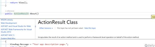 View Help with in Same Code Window – Peek Help in Visual Studio 2013