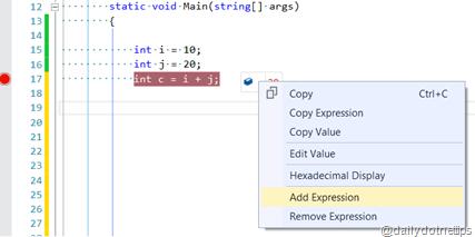 Adding New Expression in Visual Studio DataTips