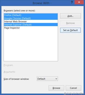 Multiple Default Browser