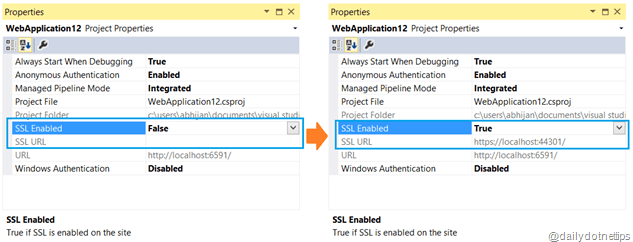 SSL Enable for IIS Express