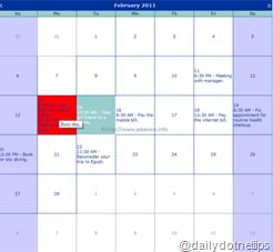 ASP.NET Calendar as Outlook Calendar