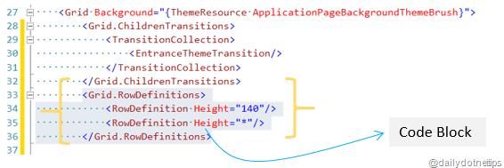 Block XAML Code