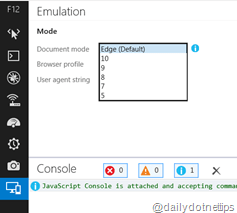 How to open Browser compatibility mode in IE 11 ?
