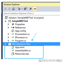 How to keep track of Miscellaneous files efficiently in Visual Studio