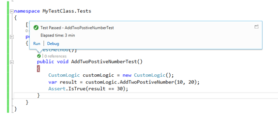 image10 How to write your very first Unit Test in Visual Studio using MSTest Framework easily ?