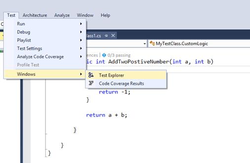 Exploring and Managing Unit Tests Using Test Explorer in Visual Studio