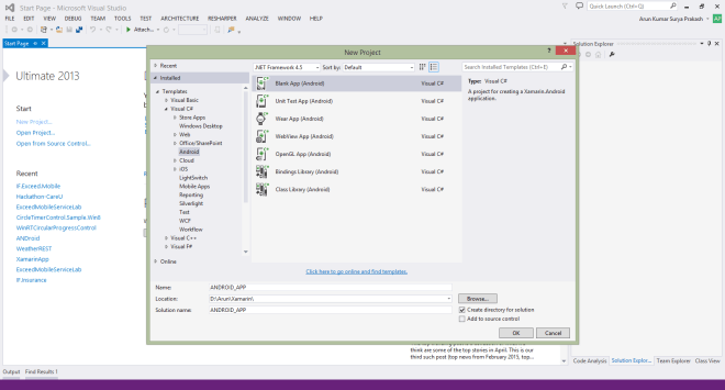 Build Android App using Xamarin in Visual Studio 2013 - Part 2