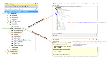 Using Shared Project across multiple applications in Visual