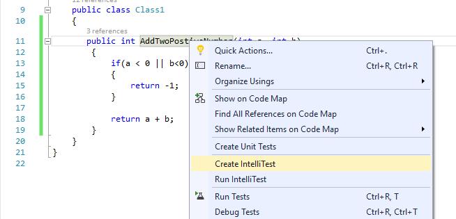 Create IntelliTest