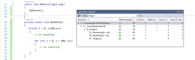 Visual Studio Code Metrics Tool