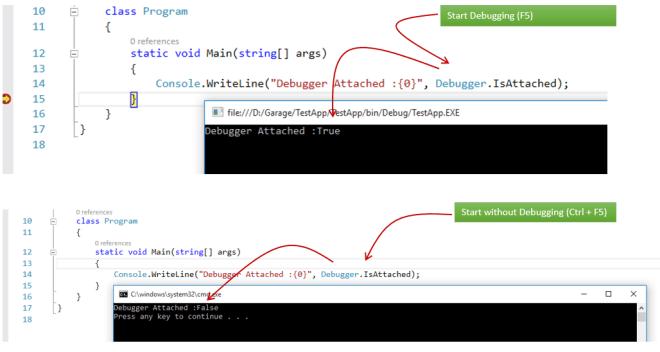 Back to Basic : Difference between Start Debugging & Start without Debugging in Visual Studio