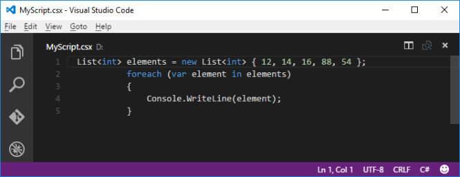 C# Script in VS Code