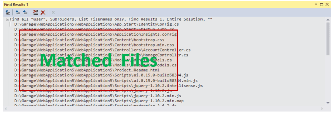 Customize the content of Find Result Window in Visual Studio