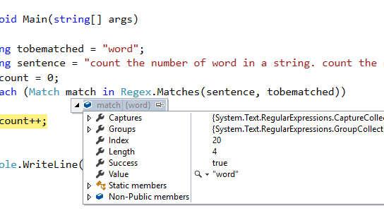 Back to Basic : How to count occurrences of a specific word in a sentence using C# ?