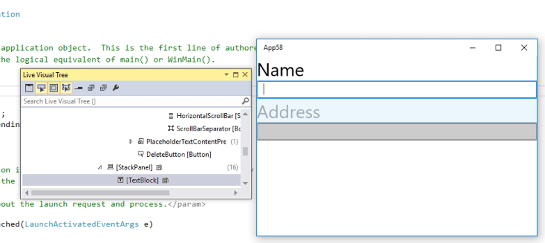 Live XAML in Windows Universal Apps and Visual Studio 2015 without In-App toolbar