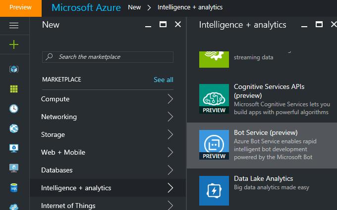 Rapid Development of  Intelligent Bot Using Azure Bot Service