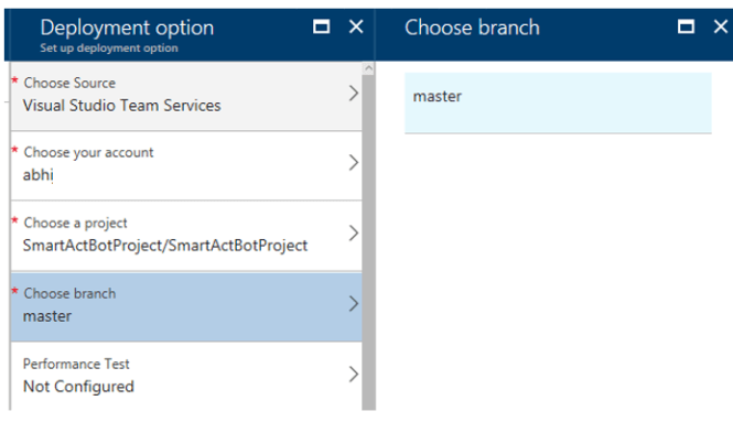 Choose Account and Project