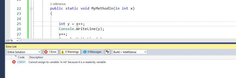 """Cannot assign to variable """"in int"""" because it is a read-only variable."""