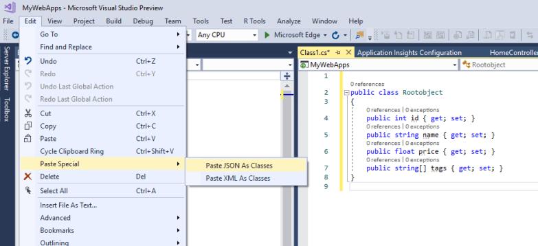 Paste JSON As Classes