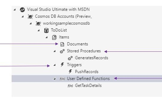 Working with Azure Storage Explorer for Azure Cosmos DB