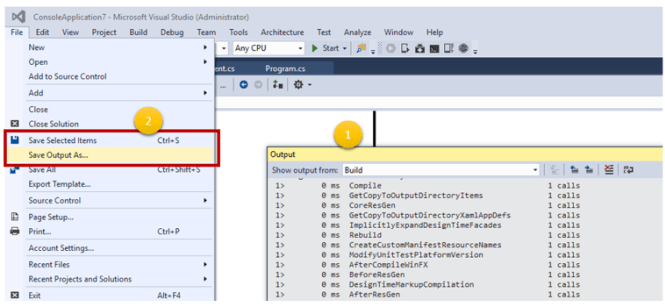 Get the most out of Output Window in Visual Studio - Daily