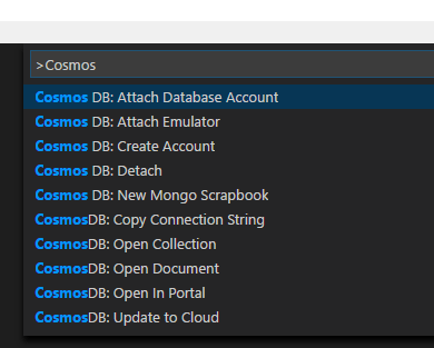 Azure Cosmos DB Commands