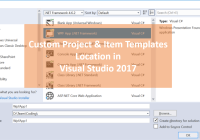 Custom Project Template Location