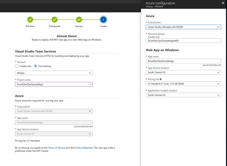 Azure DevOps Project - Azure Configuration