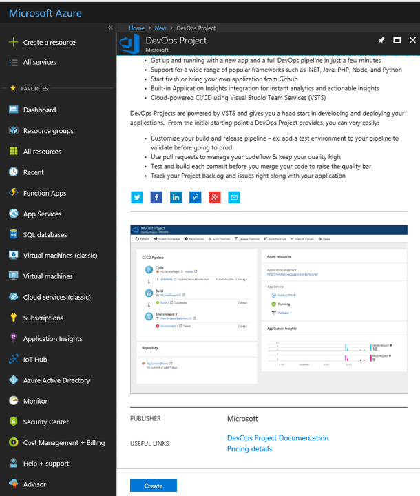 Azure DevOps Project - Create DevOps Project