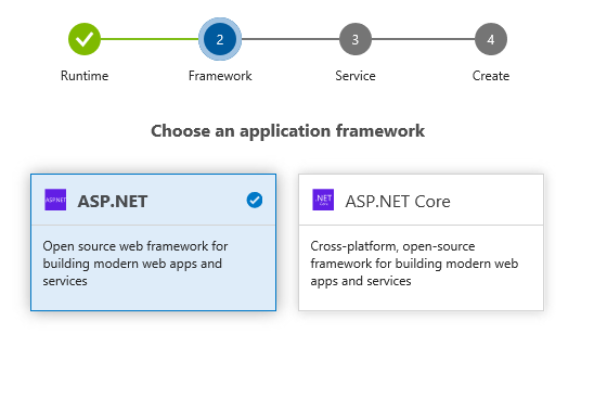 Azure DevOps Project - Select Project Type