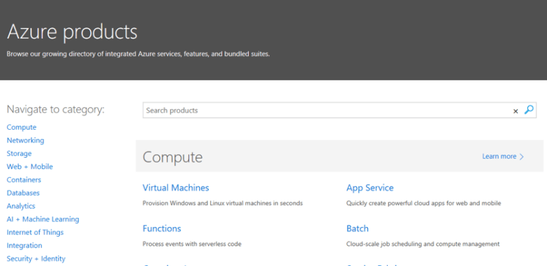 Azure All Products