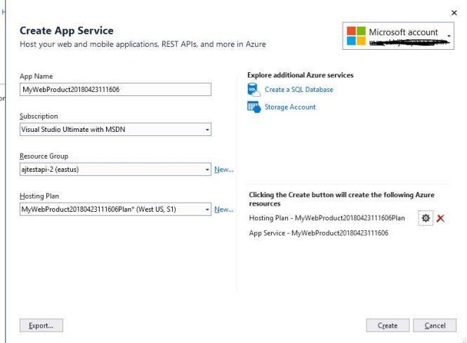 azure app service on Linux: Create App Service