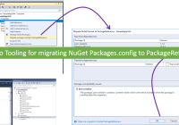 Visual Studio Tooling for migrating NuGet Packages.config to PackageReference
