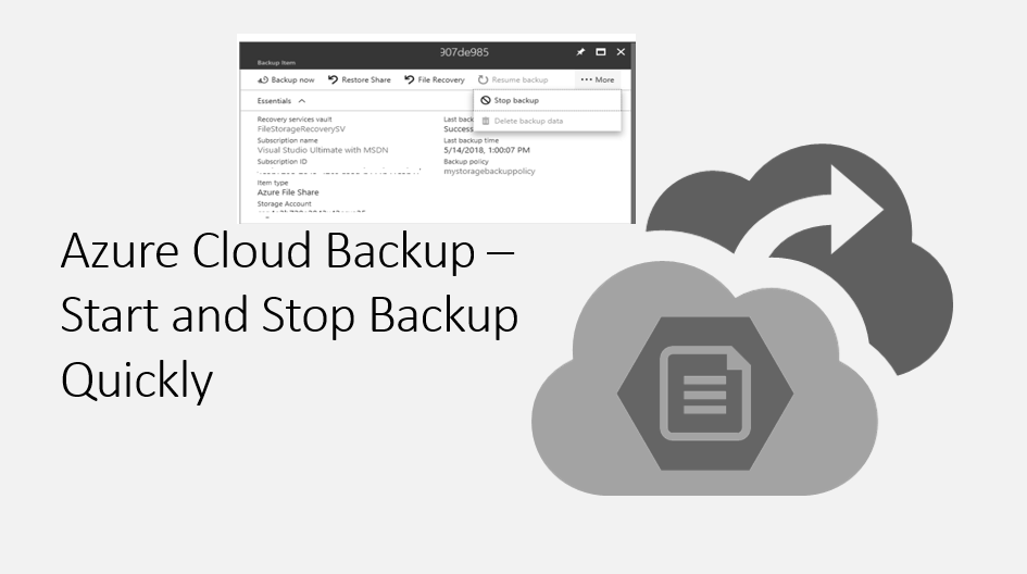 Azure Cloud Backup – Start and Stop Backup Quickly