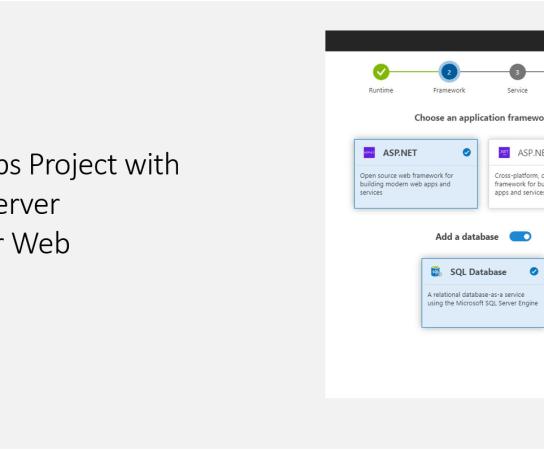 Azure DevOps Project with Azure SQL Server Database for Web Applications
