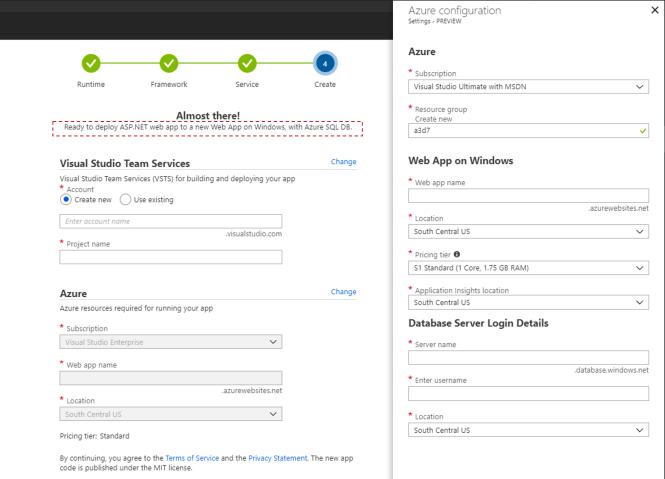 Azure DevOps Project with Azure SQL Server Database