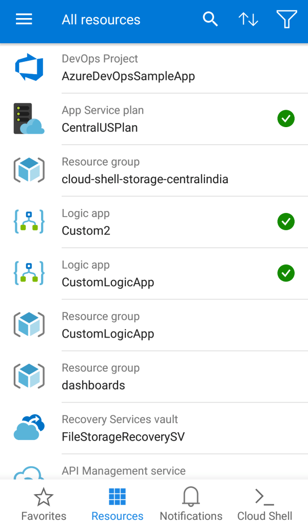 Azure Mobile App - List of Resources
