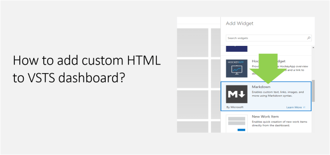 How to add custom HTML to VSTS dashboard-Featured