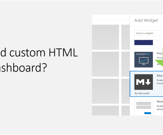 How to add custom HTML to VSTS dashboard?