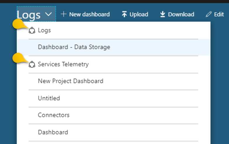 Identify the Shared Dashboards in Azure Portal - Logo