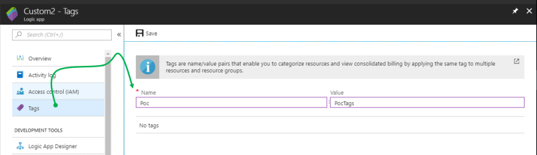 Tag multiple Azure Resources from Azure Portal - Tag Single Resource